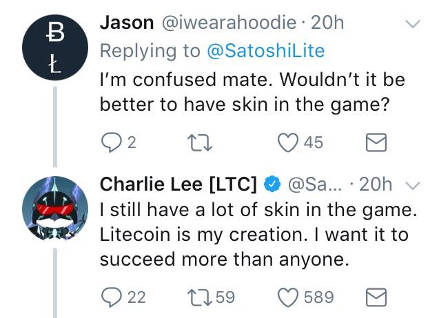 Litecoin founder sold all his Litecoins, rumours of foul play circulate