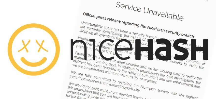NiceHash freezes operations as $62 million worth of BTC is emptied from its wallet