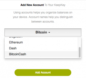 KeepKey wallets now support Bitcoin Cash