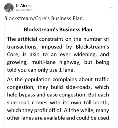 TX HighWay does well to illustrate the Bitcoin Cash Advantage