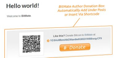 BitMate plugin for author donations starts accepting Bitcoin Cash
