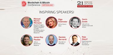 Keynote fintech experts of Switzerland will participate in Blockchain & Bitcoin Conference Switzerland