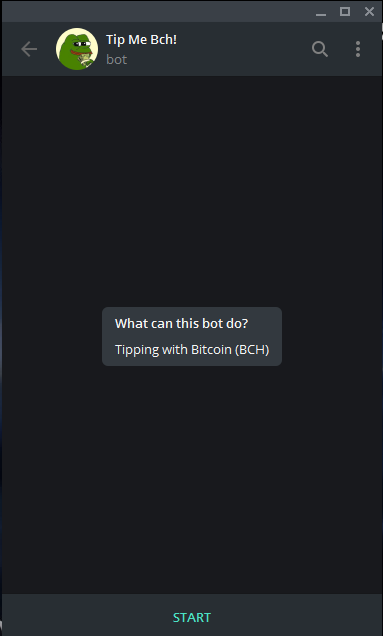 tipmebch: A Bitcoin Cash tipping bot for Telegram app