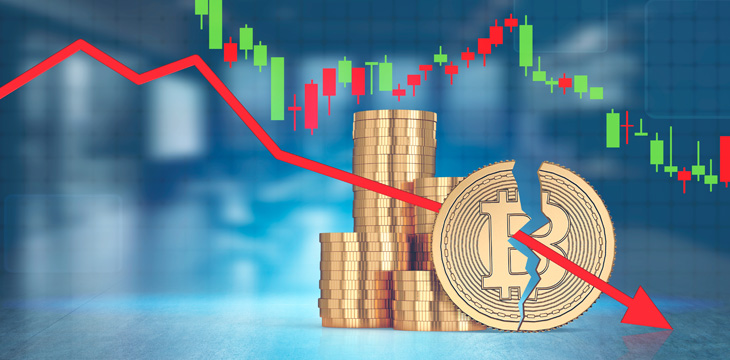 Cryptocurrency market back on decline as bears hit back