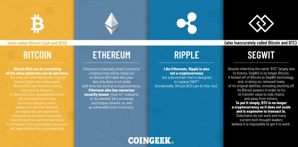 Demystifying the crypto space: From a platform perspective, only 4 cryptocurrencies exist