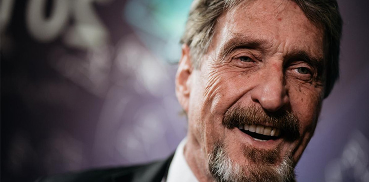John McAfee will tweet about your crypto project—for $105,000