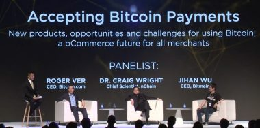 Craig Wright, Roger Ver, Jihan Wu share the stage at CoinGeek Conference