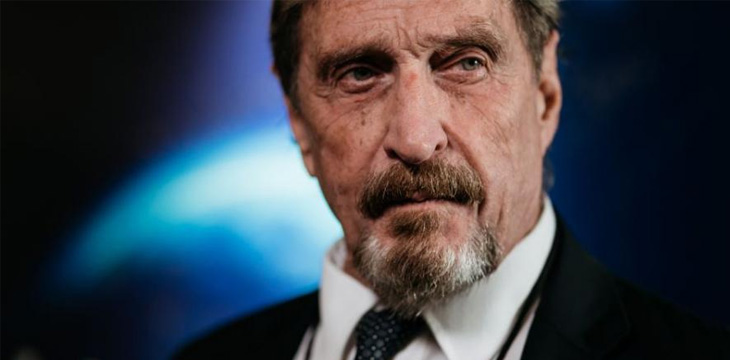 John McAfee will no longer promote ICOs due to SEC pressure