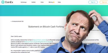 CoinEx produces a confusing and misleading statement about supposed Bitcoin Cash fork