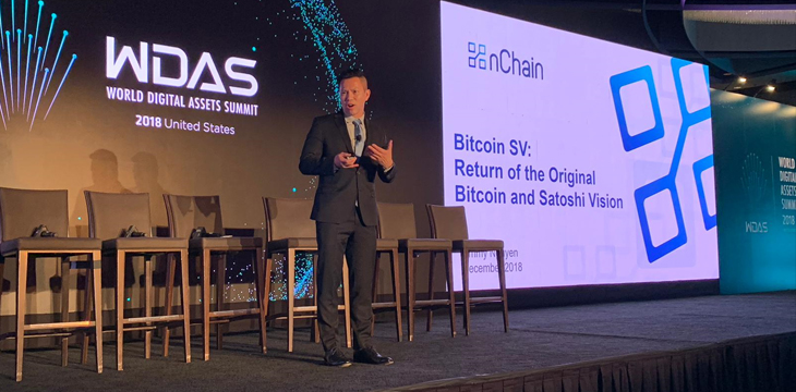 Jimmy Nguyen lays out four pillars of Bitcoin SV at World Digital Assets Summit