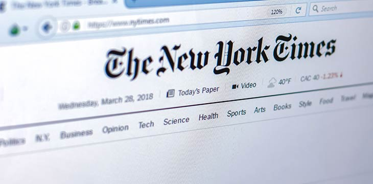 The New York Times posts blockchain job but takes it down later