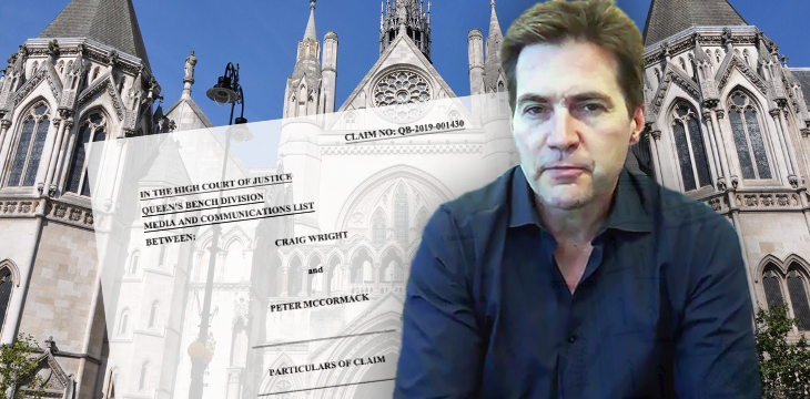 Dr. Craig Wright files statement of claim in libel suit v. podcaster Peter McCormack