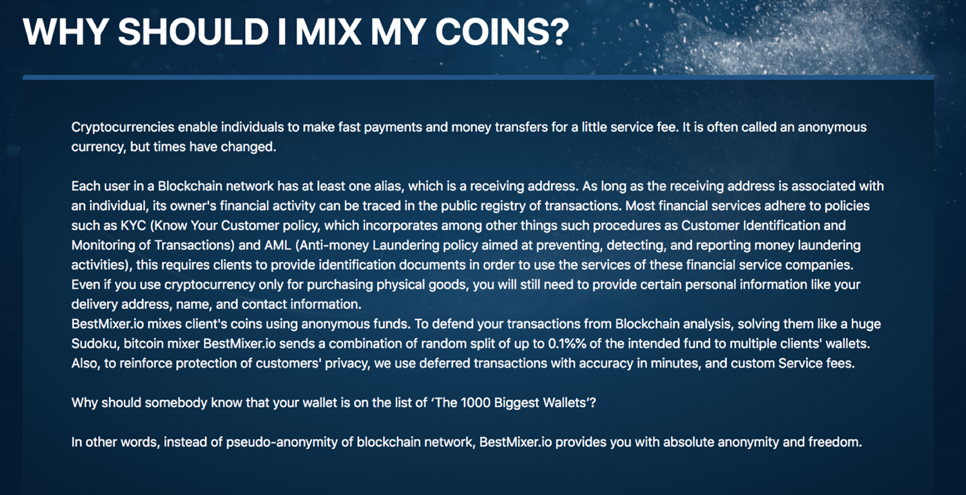 Crypto mixing service Bestmixer seized over money laundering claims