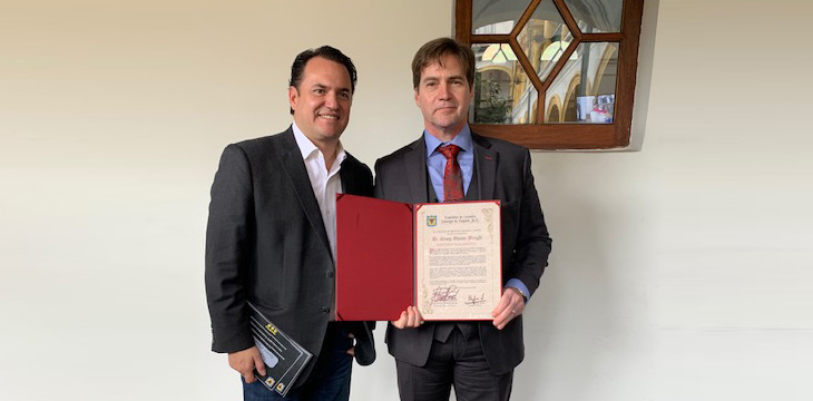 Dr. Craig S. Wright recognized as Satoshi Nakamoto by Council of Bogota