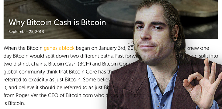 Is Roger Ver a Bitcoin con man or just a moron?