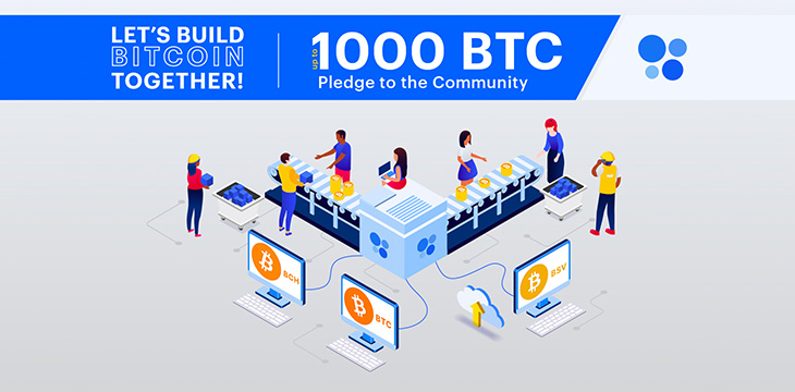 """OKCoin announces """"Let's Build Bitcoin Together!"""" — a pledge to donate up to 1,000 BTC to the Bitcoin community"""