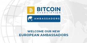 Bitcoin Association announces European Ambassadors to enhance growth of Bitcoin SV