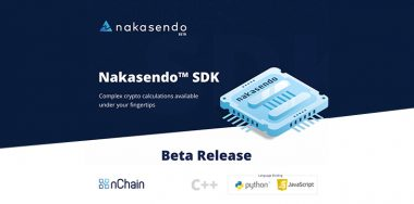 nChain launches Nakasendo SDK ver 0.2.0 for Bitcoin SV