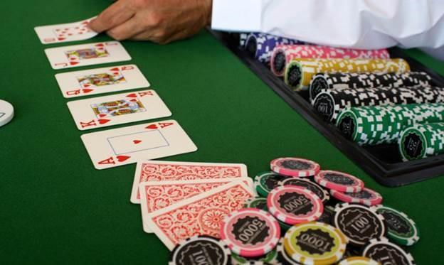 dealer in a casino card game