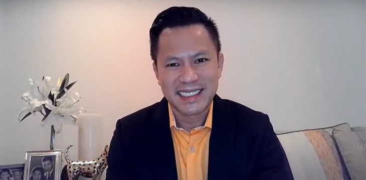 Jimmy Nguyen speaks at India's first Bitcoin SV meetup