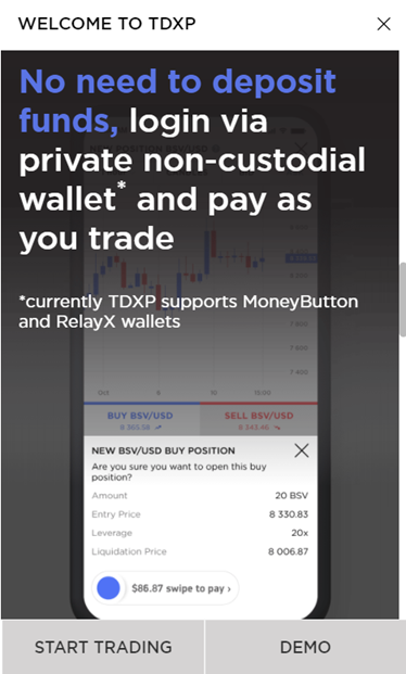 TDXP supports MoneyButton