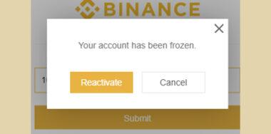 Binance will lock United States user's accounts in 14 days