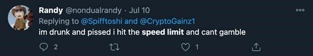 Randy Twitter post