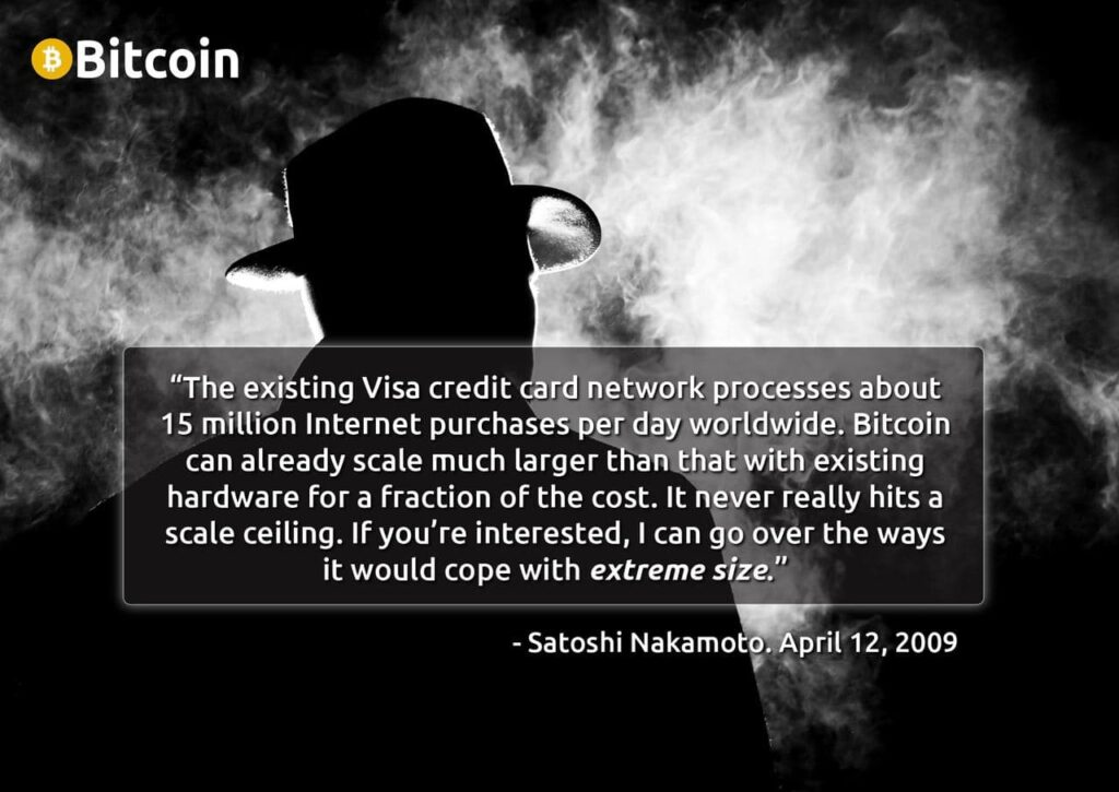 Satoshi Nakamoto on Visa transactions
