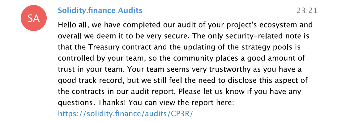 Auditors first warning