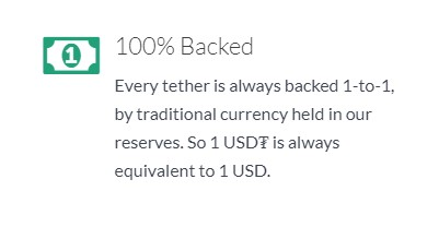 Every tether is always backed