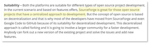 What's The Difference Between Sourceforge and GitHub?