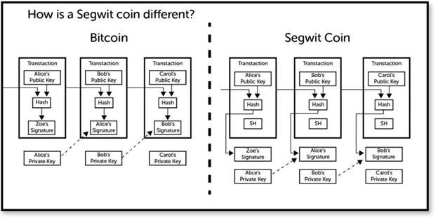 How is a Segwit coin different?