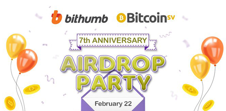 Bitcoin Sv Joins Bithumb S 7th Anniversary Airdrop Party Coingeek