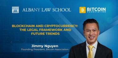 "Jimmy Nguyen 参加奥尔巴尼法学院""区块链和数字货币:法律框架和未来趋势""的研讨会"