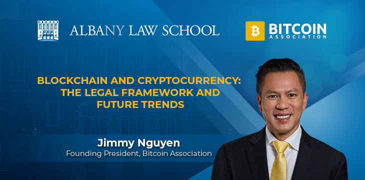 Jimmy Nguyen joins Albany Law School 'Blockchain and Cryptocurrency: The Legal Framework and Future Trends' webinar