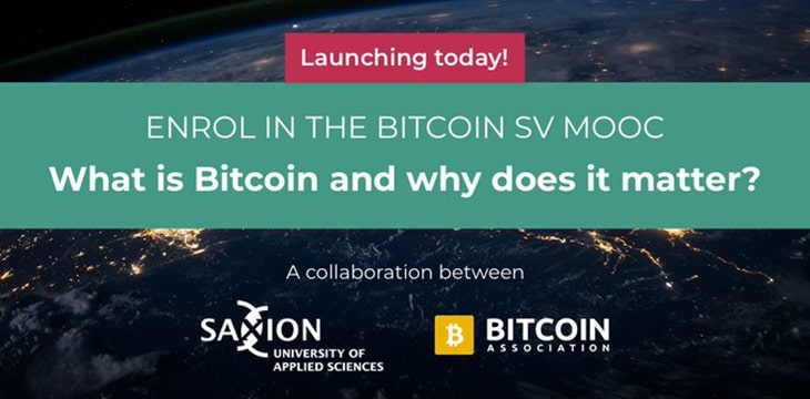 First Bitcoin SV course launches: 'What is Bitcoin and why does it matter'?