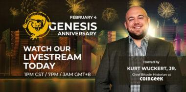 Celebrate Genesis anniversary live with CoinGeek's Kurt Wuckert Jr. on YouTube