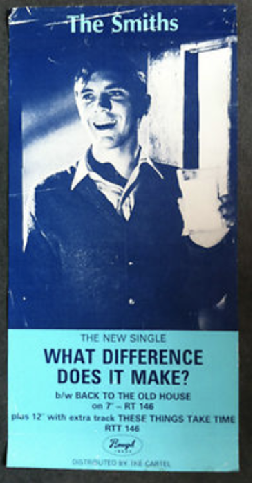 """The Smiths single, """"What difference does it make"""" poster"""