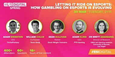 Adam Kling talks evolution of esports gambling at ESI Digital Spring panel