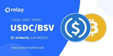 RelayX lists USDC/BSV trading pair on REX