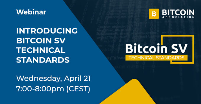 Bitcoin SV Technical Standards Committee to host introductory webinar