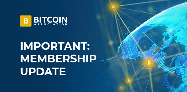 Here's your reminder to renew your Bitcoin Association membership