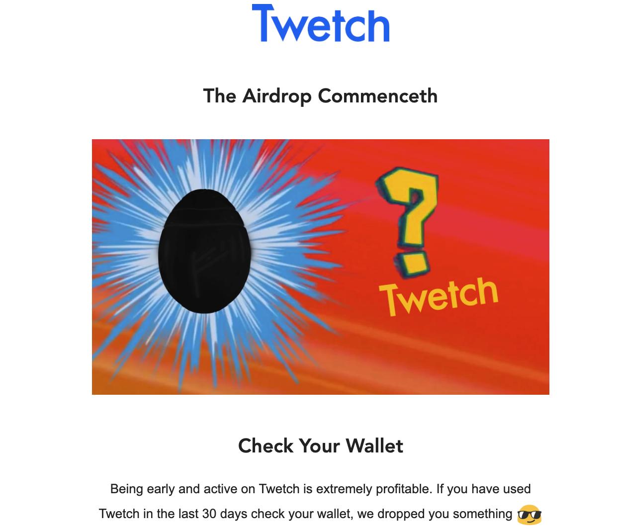 Twetch Egg announcement