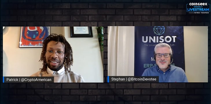 CoinGeek Weekly Livestream Episode 11: Industry efficiency, supply chain management, auditing on Bitcoin with Stephan Nilsson
