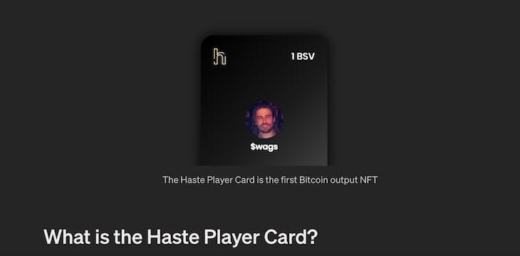 Haste发行实用型NFT玩家卡