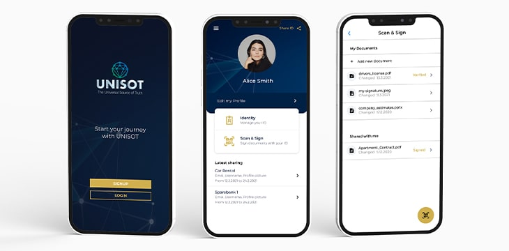UNISOT ID listed at Decentralized Identity Foundation
