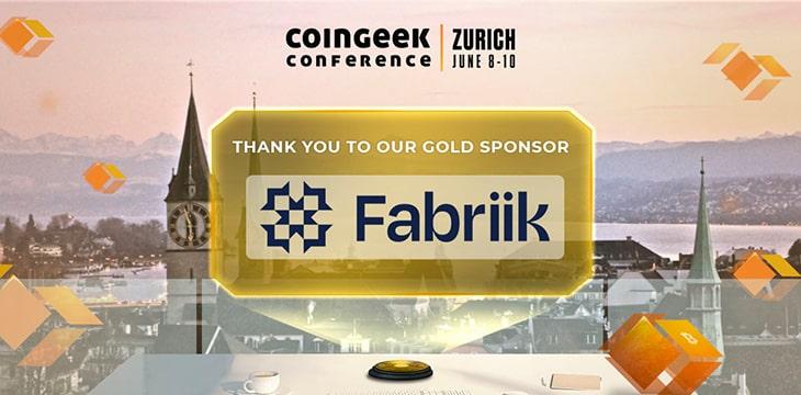 CoinGeek Zurich 2021 sponsor spotlight: Fabriik's digital finance ecosystem gains further momentum
