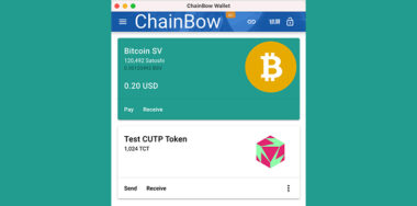 NOTE.SV creator Chainbow is testing a BSV Layer 1 token wallet