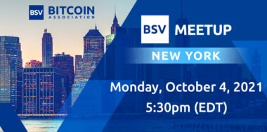 想要在纽约参加CoinGeek大会吗?请加入纽约市的比特币SV交流会