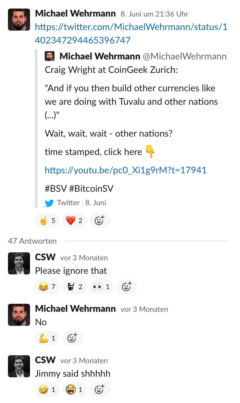 Bitcoin SV adopted by 'other nations'?
